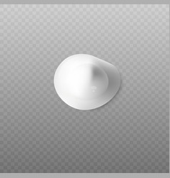 realistic blop body cream top view on vector image