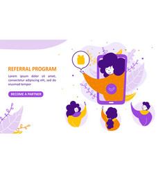 referral marketing or refer a friend loyalty vector image