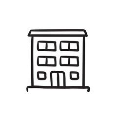 residential building sketch icon vector image