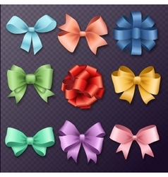 Ribbons set for Christmas or Birthday gifts vector image