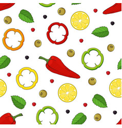 Seamless pattern made from hand drawn lemons vector