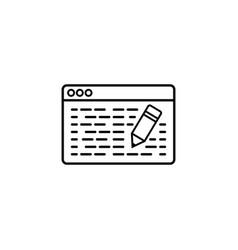 seo copywriting line icon vector image
