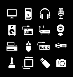 Set icons pc and electronic devices vector