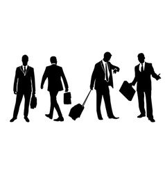 Set of businessmen vector