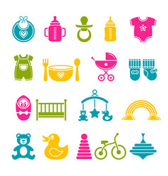 Set of children icons vector