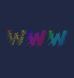 Several variants one letter w latin vector