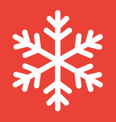 snowflake glyph icon new year and christmas vector image