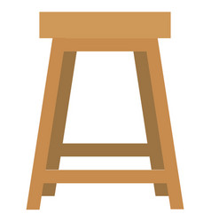 stool icon with flat style eps10 vector image