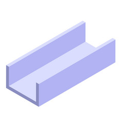 Structure gutter icon isometric style vector