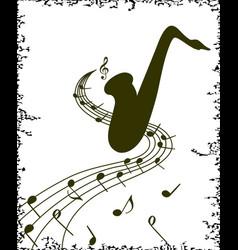 stylish template of saxophone on white background vector image