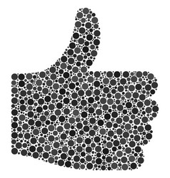 thumb up composition of dots vector image