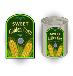 tin can with a label for vector image