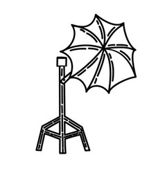Umbrella icon doodle hand drawn or black outline vector