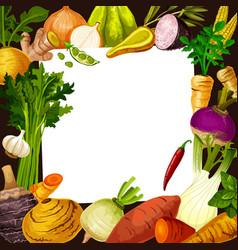Vegetable salad recipe card vector