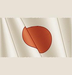 Vintage flag japan close-up background vector