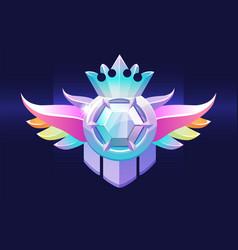 Vip award badge with gem a prize with a diamond vector