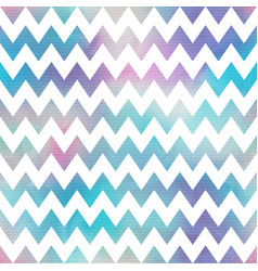 Watercolor zigzag seamless pattern vector