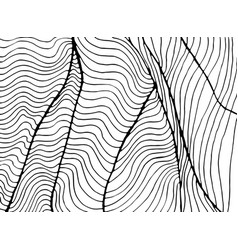 waves abstract decorative ornament coloring page vector image