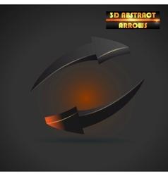 abstract black arrows 3d vector image vector image