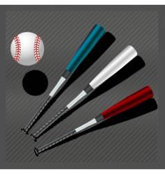 baseball bats and ball vector image vector image