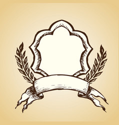 emblem logo hand drawing vector image