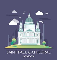 famous london landmark saint paul vector image