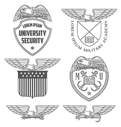 Military labels badges and design elements vector image vector image