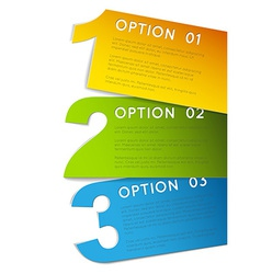 One two three - progress background vector image