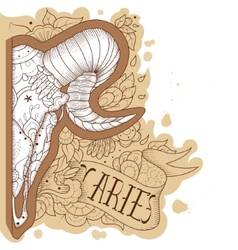 Engraving aries vector image vector image