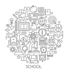 round line concept for back to school vector image vector image