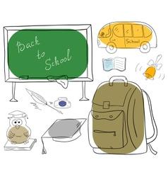 School collection vector image vector image