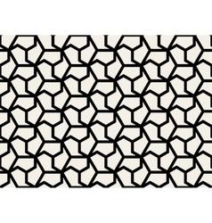 Seamless Black and White Hexagonal Shape vector image vector image