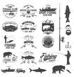 Sport fishing club vector