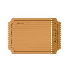 blank ticket vector image