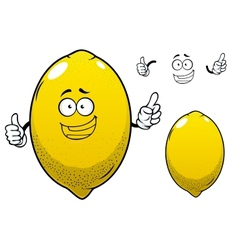 Cartoon yellow lemon citrus fruit vector image vector image