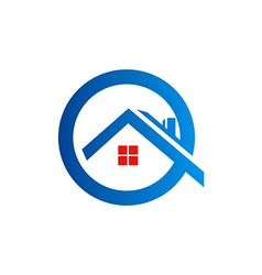 Home roof construction logo vector