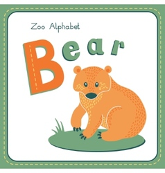 Letter B - Bear vector image vector image