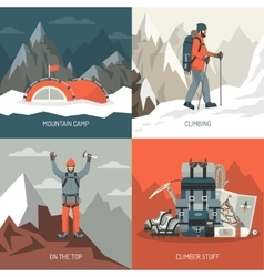 Mountaineering Design Concept vector image