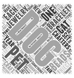 pet jewelry Word Cloud Concept vector image vector image