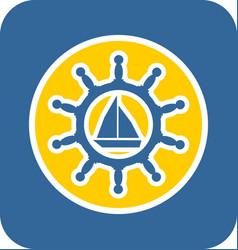 sea sticker icon vector image