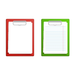 clipboard base white blank paper vector image vector image