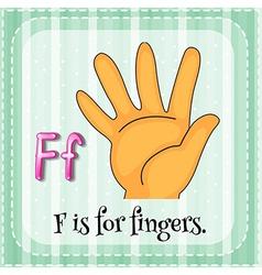 Fingers vector image