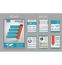 Flyer design with elements of infographics vector image