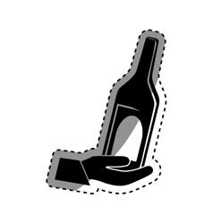 Winne bottle beverage vector image vector image