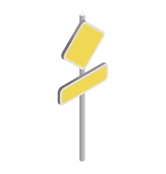 Yellow road sign icon isometric 3d style vector image