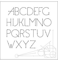 ABC font letter design vector image