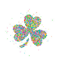 Abstract four leaf clover st patricks day vector