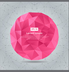 Abstract low polygonal circles geometric pink vector
