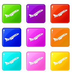 Aircraft set 9 vector