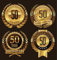 Anniversary laurel wreath 50 years vector